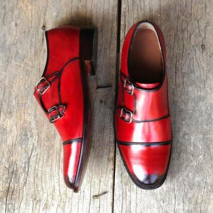 Monk Style Red Color Black Pointed ..
