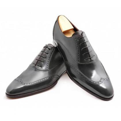 Oxford Style Black Color Brogue Win..