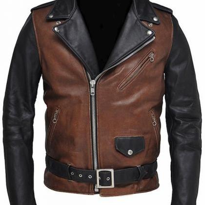 Handmade New Men Biker Leather Jack..