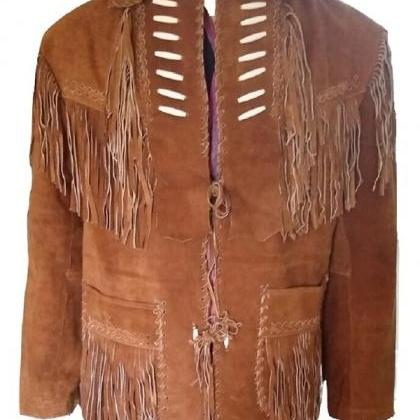 New Western Cowboy Brown Color Coat..