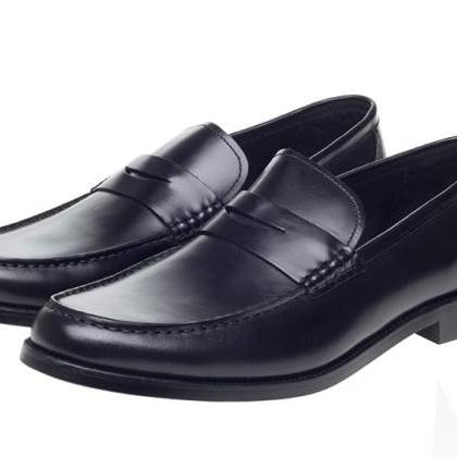 Calf Loafer Style Exclusive Black C..