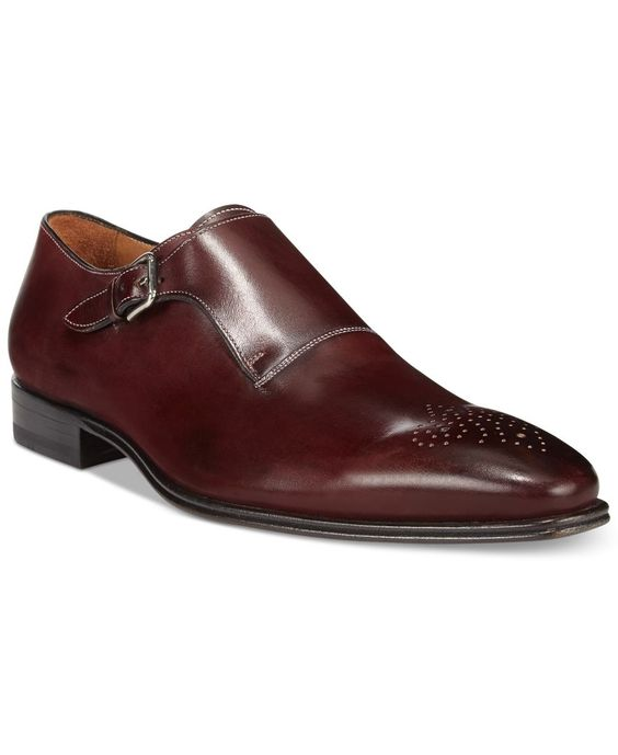 Handmade Men Formal Shoes, Men Maroon color monk shoes, Men dress shoes
