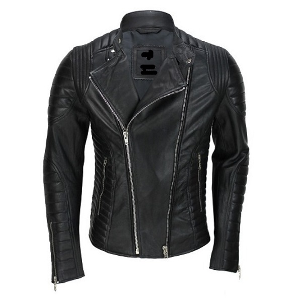 New Handmade Genuine Lambskin Leather Motorcycle Jacket For Men